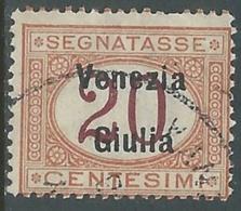 1918 VENEZIA GIULIA SEGNATASSE USATO 20 CENT - RA28 - 8. WW I Occupation