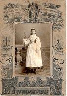Altes Kabinettfoto CDV - Zur Erinnerung An Meine Erste Heilige Kommunion Ca 1880-1900 - Kommunion
