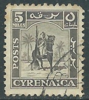 1950 CIRENAICA AMMINISTRAZIONE AUTONOMA USATO CAVALIERE 5 M - RA28 - Cirenaica