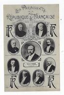 CPA Les Présidents De La République Française - Persönlichkeiten