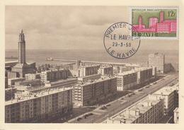 Carte  Maximum  1er  Jour    FRANCE    LE  HAVRE   1958 - Maximum Cards