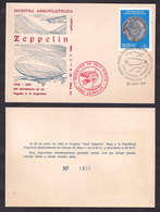 Argentina - 1984 - Échantillon Philatélique 50 Ans Après L'arrivée De Graf Zeppelin - Zeppelines