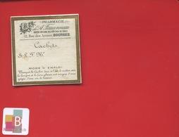 BOURGES FAUCONNEAU Rue Des Arènes   Pharmacien  ETIQUETTE  ANCIENNE PHARMACIE  1900 - Etiketten