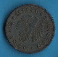 DEUTSCHES REICH 5 REICHSPFENNIG 1940 F  KM# 100 Svastika - 5 Reichspfennig