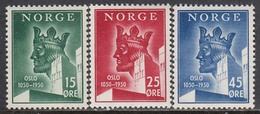 Norway 1950 - 900 Jahre Stadt Oslo, Mi-Nr. 348/50, MNH** - Ungebraucht