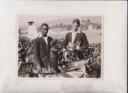 MCC TEAM FIRST MATCH WITH JAMAICA  HEADLEY JAMAICA MASCOT BARROW ENGLISH BULLDOG  20*15CM Fonds Victor FORBIN 1864-1947 - Sports