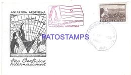 117501 ARGENTINA COVER 1º EXPOSICION NACIONAL ANTARTIDA ANTARCTICA YEAR 1959 NO POSTCARD - Argentinien