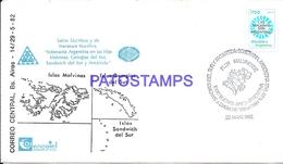 117502 ARGENTINA COVER ISLAS MALVINAS FALKAND GEORGIAS DEL SUR ANTARTIDA ANTARCTICA YEAR 1982 NO POSTCARD - Argentinien