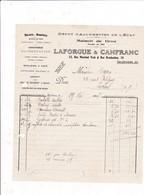 65-Laforgue & Canfranc..Dépot D'Allumettes De L'Etat.....Tarbes...(Hautes-Pyrénées)..1927 - France