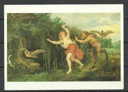 DDR Post Card Jan Bruegel Older Pan And Syrinx Schwerin Staatliches Museum KUNST Art - Schilderijen