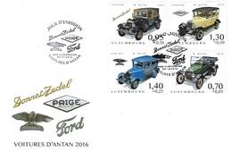 FDC  -  06.12.2016  BONNET ZEDEL  PAIGE  FORD  VOITURES D'ANTAN 2016 - FDC