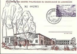 18.5.1953  -  Féderation Des Sociétés Philatlétiques Du Grand-Duché De Luxembourg - Cartoline Maximum