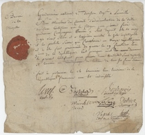 Armée De La Moselle An 3 - 14.11.1794 Gendarmerie Nationale Lunéville - Documenti Storici