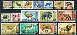 """1966 Kenia MNH OG Complete Set Of 16 Stamps """" Wild Animals"""" Mi # 20-35 Great Set!!! - Kenya (1963-...)"""