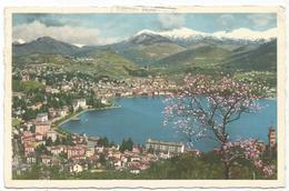 W4200 Lugano - Panorama Col Lago / Viaggiata 1952 - TI Tessin