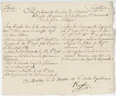 Moutier An 6 - 17.10.1798 Armée Du Rhin Et Erguel Etat Service Gendarmerie Généalogie Kugler Ste Croix - Documenti Storici