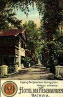 Indonesia, JAVA BATAVIA, Entrance Hotel Der Nederlanden (1910s) Postcard - Indonesië