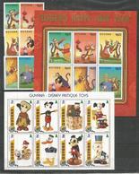 2 Pcs GUYANA - MNH - Walt Disney - Disney