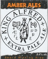 AMBER ALES (RIPLEY, ENGLAND) - KING ALFRED EXTRA PALE ALE - PUMP CLIP FRONT - Signs