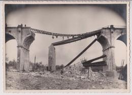 CHALINDREY (HAUTE MARNE) :  VIADUC DE TORCENAY BOMBARDE LE 13 JUILLET 1944 - PHOTO 17,5 CM X 12,5 CM - RARE - 4 SCANS - - Guerre, Militaire