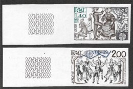 France,  Scott 2019 # 1737-1738,  Issued 1981,  Imperf Set Of 2,  MNH - France