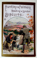 CHROMO BORDS DORES.....HUNTLEY ET PALMERS....CHASSE AU CERF - Confiserie & Biscuits