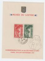 Frankreich 1937 , Louvre Sonderkarte Mit Nr 359/60 - France