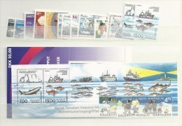 2002 MNH Greenland, Year Complete According To Michel, Except Self Adhesive, Postfris - Groenlandia