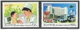 North Korea 2009 Mih. 5460/61 Medicine. Public Health Work. Automobiles. Helicopter MNH ** - Korea (Nord-)