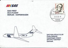 Germany Cover First SAS DC-9 Flight Berlin - Copenhagen 29-10-1990 - [7] Federal Republic