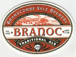 BRANSCOMBE VALE BREWERY (SEATON, ENGLAND) - BRANOC TRADITIONAL ALE - PUMP CLIP FRONT - Signs