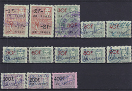 Lotje Fiscale Zegels     Kaart A 626. - Timbres