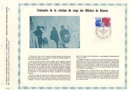 """1500 EX. """" 100 ANS DE LA CREATION DU CORPS DES OFFICIERS DE RESERVE """" Sur A4 1er Jour De 1976. N° YT 1890 - Militaria"""