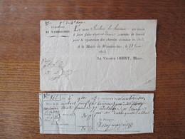 28 JUIN 1823 LE VICOMTE OBERT MAIRE DE WAMBRECHIES INVITATION A FAIRE SEPT ET DEMIE JOURNEES DE TRAVAIL POUR LA REPARATI - Documentos Históricos