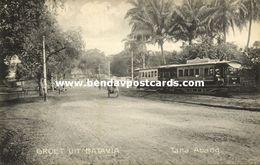 Indonesia, JAVA BATAVIA, Tanah Abang, Tram, Street Car (1910s) Postcard - Indonesia