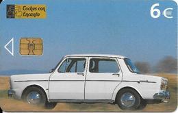 CARTE-PUCE-ESPAGNE-6€-05/06-VOITURE SIMCA 1000-Année 1960-TBE--RARE - Voitures