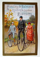 CHROMO BORDS DORES.....HUNTLEY ET PALMERS....VELO...BICYCLETTE....GRAND BI - Confiserie & Biscuits