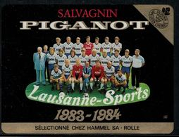 Etiquette De Vin // Salvagnin, Lausanne-Sports 1983-1984 - Football