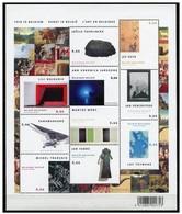 3439/48** Blok 124** This Is Belgium : Kunst In België - Bloc 124** Feuille Complète MNH - Blocks & Sheetlets 1962-....