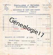 13 3516 MARSEILLE BOUCHE DU RHONE 1938 Distillerie J. RICARD De Sainte Marthe Et SAINT JEAN D ARVEY CHAMBERY SAVOIE - 1900 – 1949