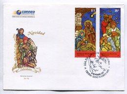 NAVIDAD CHRISTMAS NOEL XMAS. SOBRE ARGENTINA 2007 ENVELOPE FDC- LILHU - Cristianismo