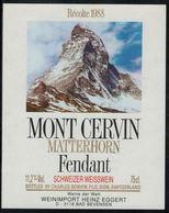 Etiquette De Vin // Fendant, Mont Cervin, Matterhorn Zermatt - Bergen