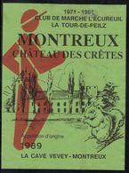 Etiquette De Vin // Montreux, Club De Marche, L'Ecureuil - Etiquettes
