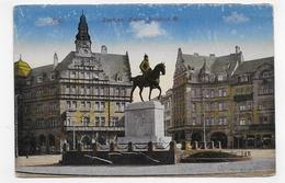 (RECTO / VERSO) METZ EN 1919 - DENKMAL KAISE FRIEDRICH III - CPA VOYAGEE - Metz