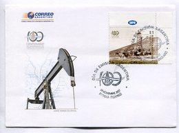 100 CENTENARIO DEL DESCUBRIMIENTO DEL PETROLEO Y DEL GAS EN ARGENTINA. SOBRE ARGENTINA 2007 ENVELOPE FDC - LILHU - Gaz