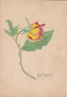 AK Rose - Orig. Handzeichnung - Aquarell - Signiert (42920) - Blumen
