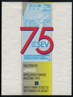 Etiquette De Vin // Lavaux, 75 Ans De La Fédération Des Cheminots - Treni