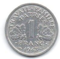 Francia 1 Franc 1943 Vichy - H. 1 Franco