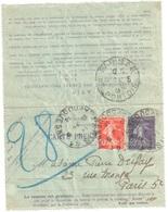 PARIS 41 Av Duquesne Carte Lettre PNEUMATIQUE 30c Semeuse Complément 10c Yv 140 CLPP4 Ob 1918 - Pneumatici