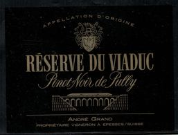 Etiquette De Vin // Pinot Noir De Pully, Réserve Du Viaduc - Arquitectura